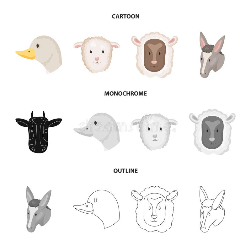 Odosobniony przedmiot rolnictwa i hodowli symbol Kolekcja rolnictwo i organicznie akcyjny symbol dla sieci ilustracji