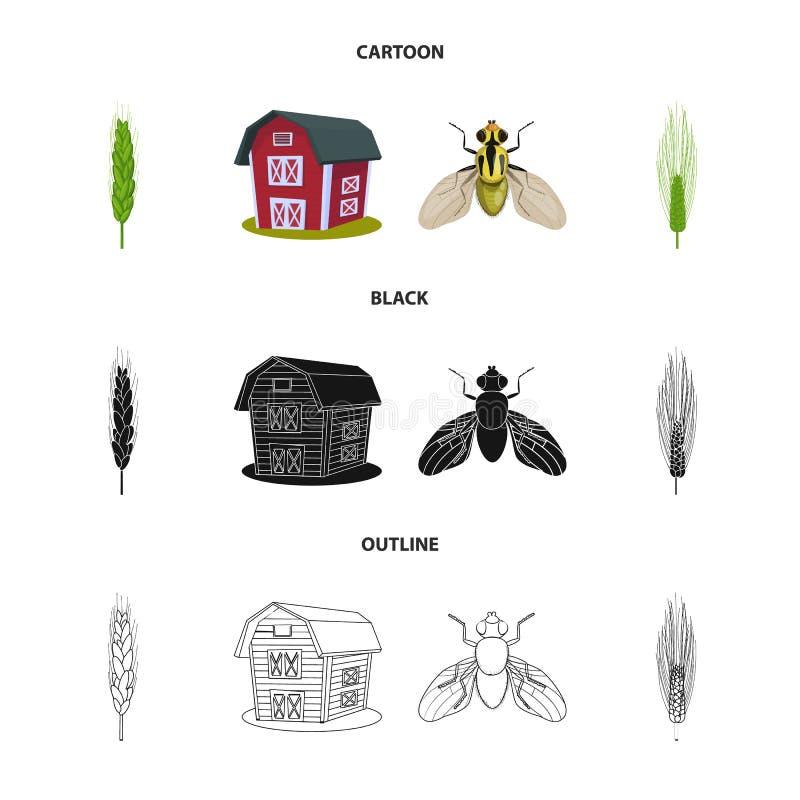 Odosobniony przedmiot rolnictwo i uprawia? ziemi? ikona Set rolnictwo i ro?lina akcyjny symbol dla sieci royalty ilustracja