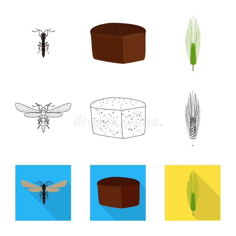 Odosobniony przedmiot rolnictwo i uprawia? ziemi? ikona Set rolnictwo i ro?liny wektorowa ikona dla zapasu ilustracja wektor