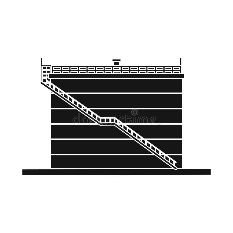 Odosobniony przedmiot ropa i gaz ikona Kolekcja oleju i benzyny akcyjna wektorowa ilustracja royalty ilustracja