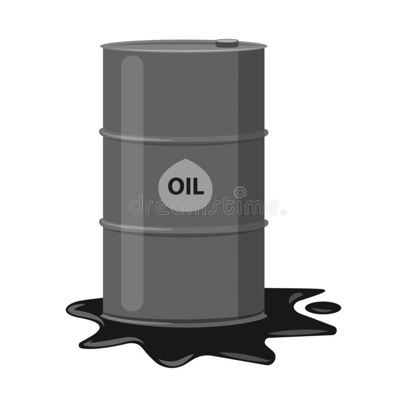 Odosobniony przedmiot ropa i gaz ikona Kolekcja oleju i benzyny wektorowa ikona dla zapasu royalty ilustracja