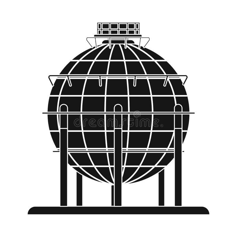 Odosobniony przedmiot ropa i gaz logo Set oleju i benzyny akcyjny symbol dla sieci royalty ilustracja
