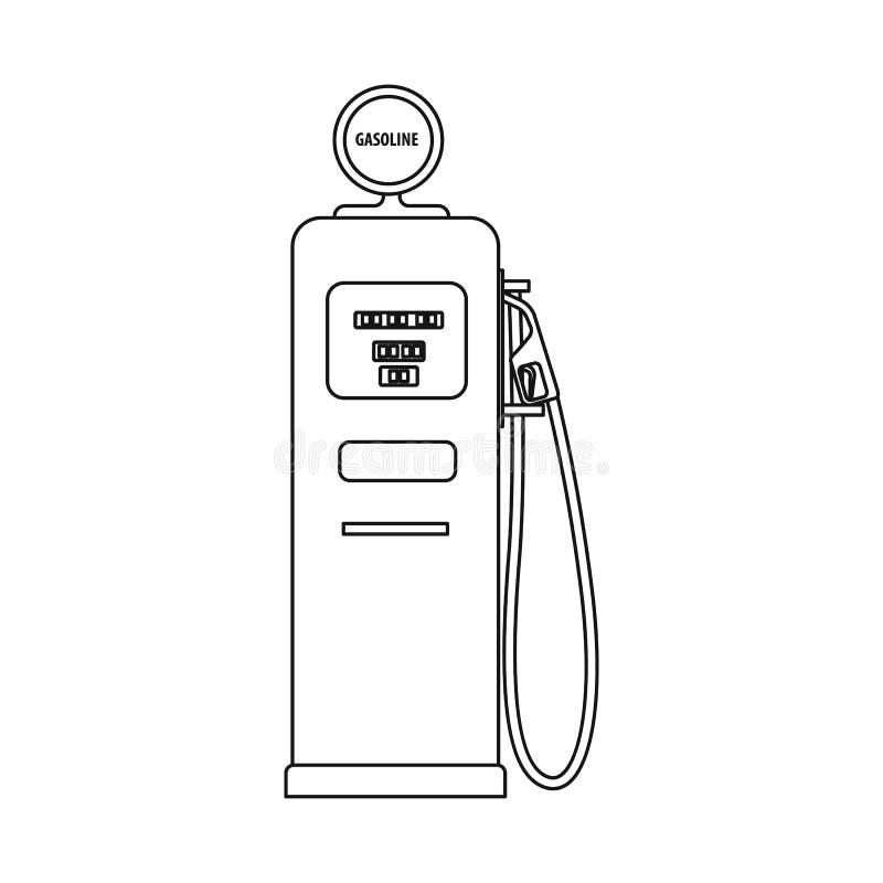 Odosobniony przedmiot ropa i gaz symbol Kolekcja oleju i benzyny akcyjna wektorowa ilustracja royalty ilustracja