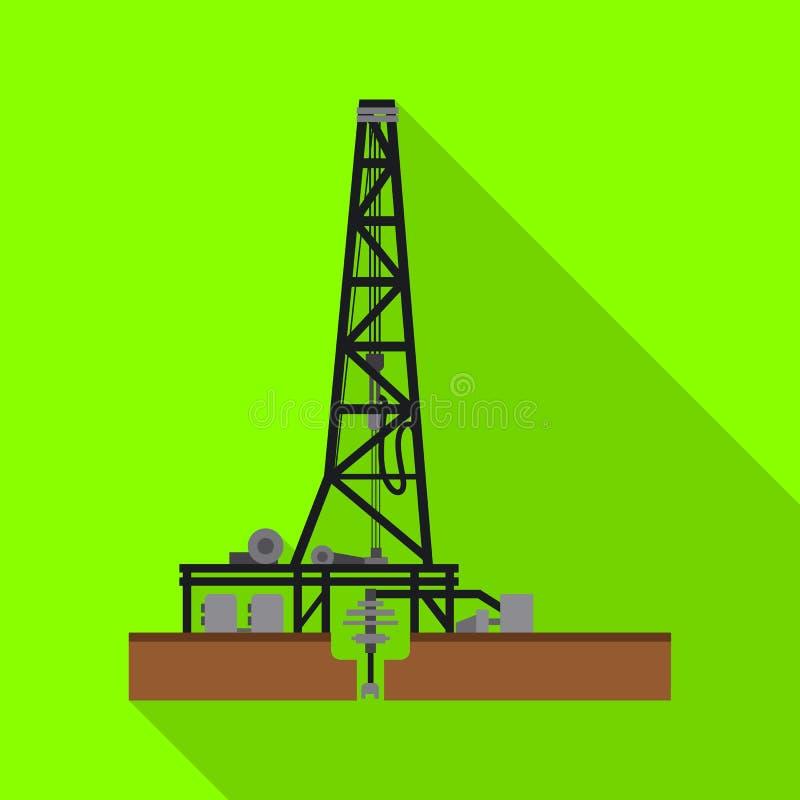 Odosobniony przedmiot ropa i gaz symbol Kolekcja oleju i benzyny akcyjny symbol dla sieci royalty ilustracja