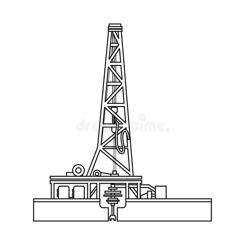 Odosobniony przedmiot ropa i gaz symbol Kolekcja oleju i benzyny wektorowa ikona dla zapasu ilustracja wektor