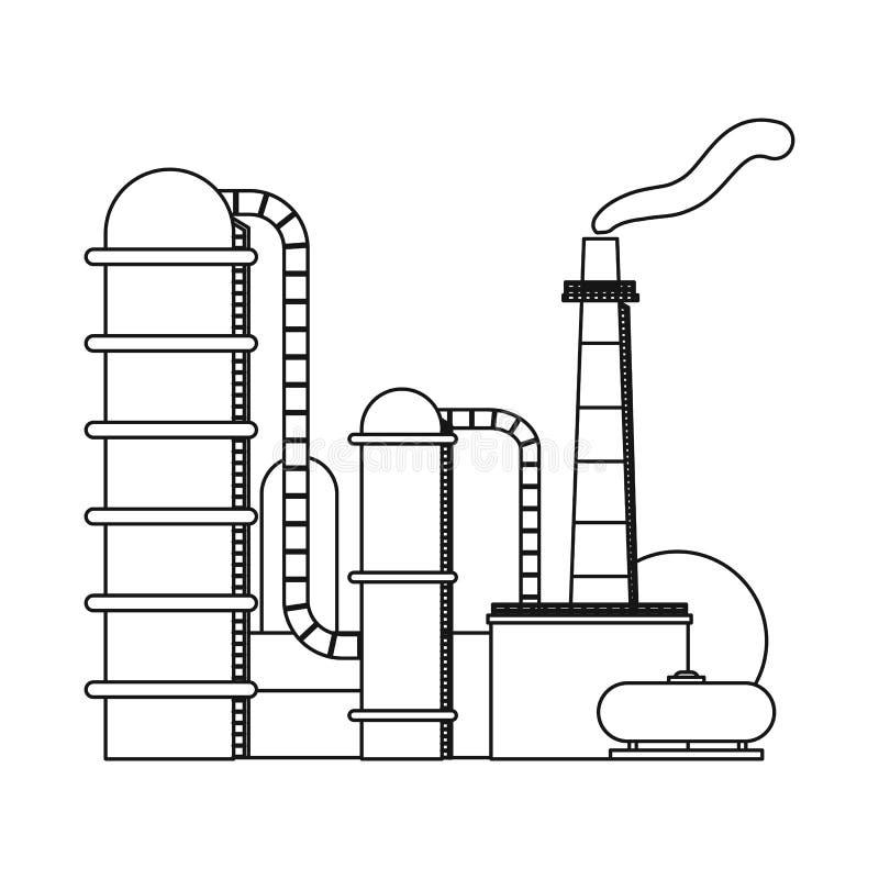 Odosobniony przedmiot ropa i gaz symbol Set oleju i benzyny akcyjna wektorowa ilustracja ilustracji