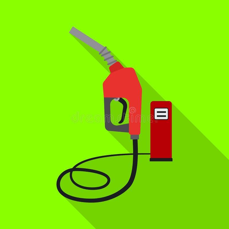 Odosobniony przedmiot ropa i gaz znak Kolekcja oleju i benzyny wektorowa ikona dla zapasu ilustracja wektor