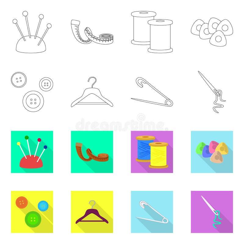Odosobniony przedmiot rzemios?o i handcraft logo Set rzemios?a i przemys?u wektorowa ikona dla zapasu ilustracji