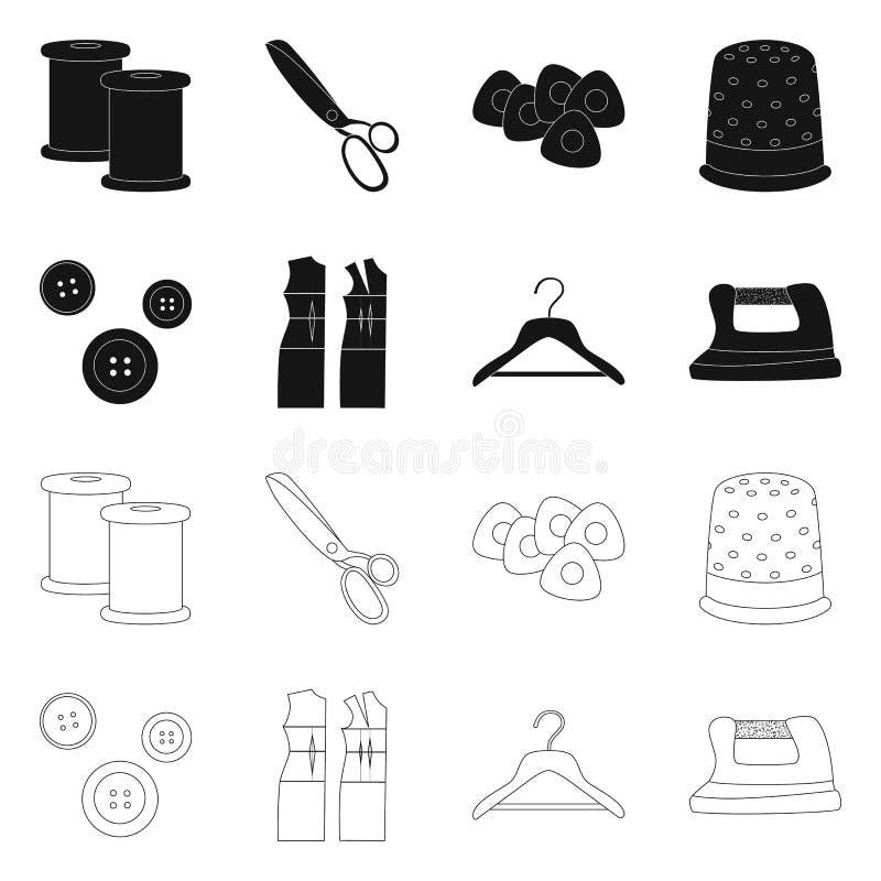 Odosobniony przedmiot rzemios?o i handcraft logo Set rzemios?a i przemys?u wektorowa ikona dla zapasu royalty ilustracja