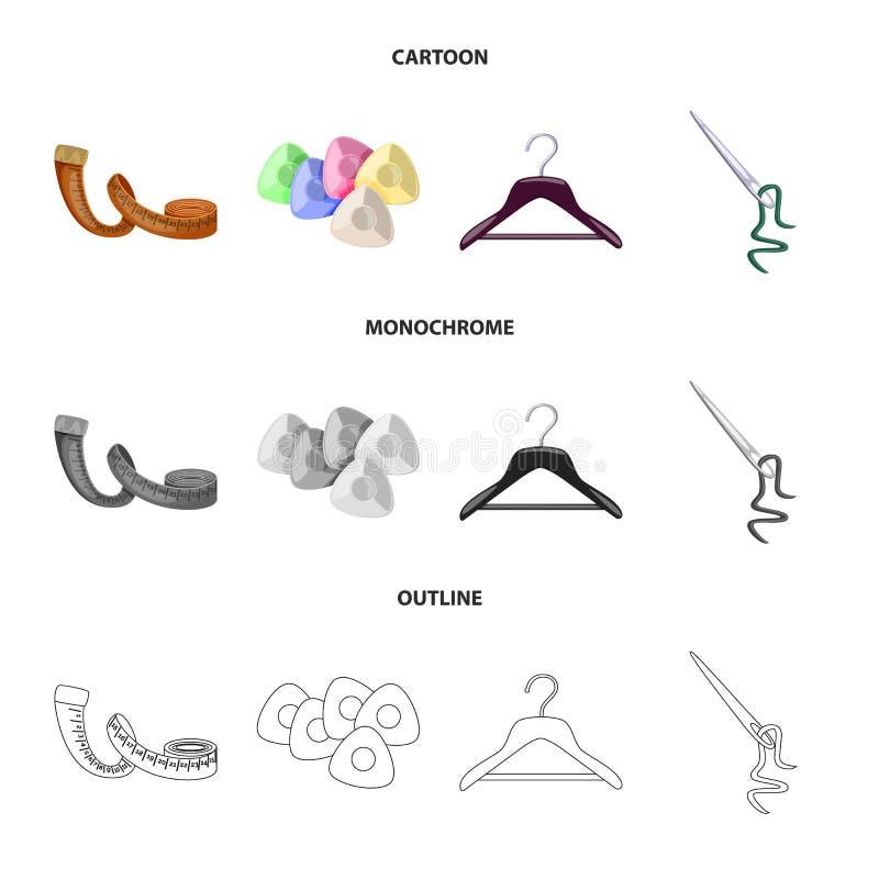 Odosobniony przedmiot rzemios?o i handcraft symbol Kolekcja rzemios?a i przemys?u akcyjna wektorowa ilustracja royalty ilustracja