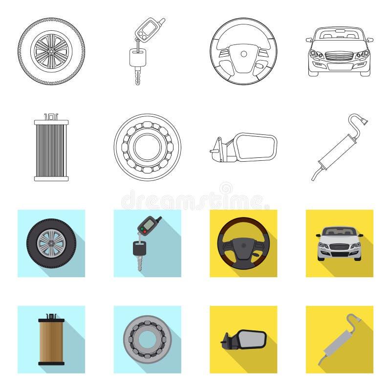 Odosobniony przedmiot samochodu i cz??ci ikona Kolekcja auto i samochodowy akcyjny symbol dla sieci ilustracja wektor