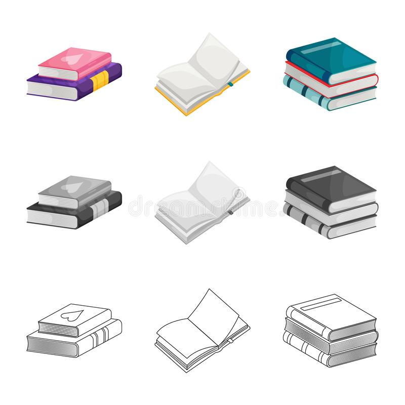 Odosobniony przedmiot szkolenia i pokrywy ikona Kolekcja szkolenie i bookstore akcyjna wektorowa ilustracja ilustracji