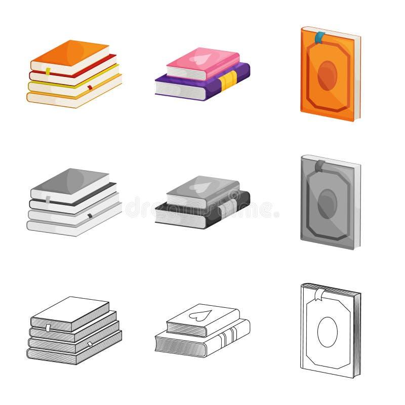 Odosobniony przedmiot szkolenia i pokrywy ikona Set szkolenie i bookstore akcyjna wektorowa ilustracja royalty ilustracja