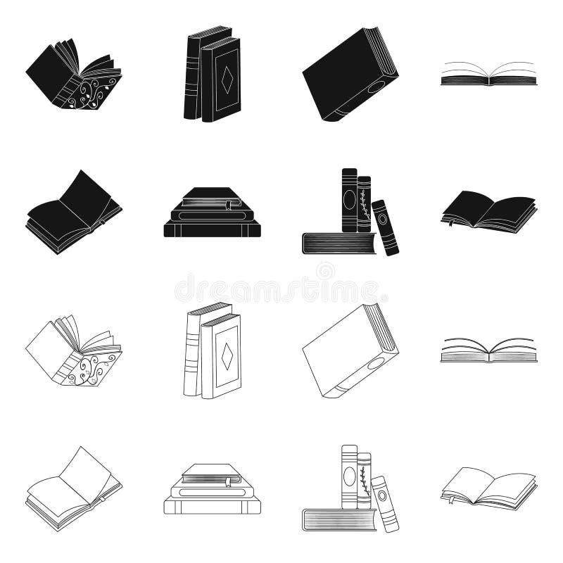 Odosobniony przedmiot szkolenia i pokrywy ikona Set szkolenie i bookstore akcyjny symbol dla sieci ilustracja wektor