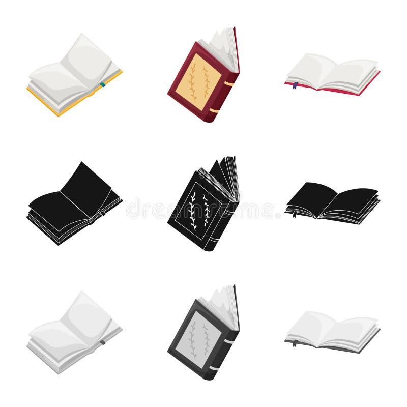 Odosobniony przedmiot szkolenia i pokrywy ikona Set szkolenie i bookstore wektorowa ikona dla zapasu ilustracja wektor