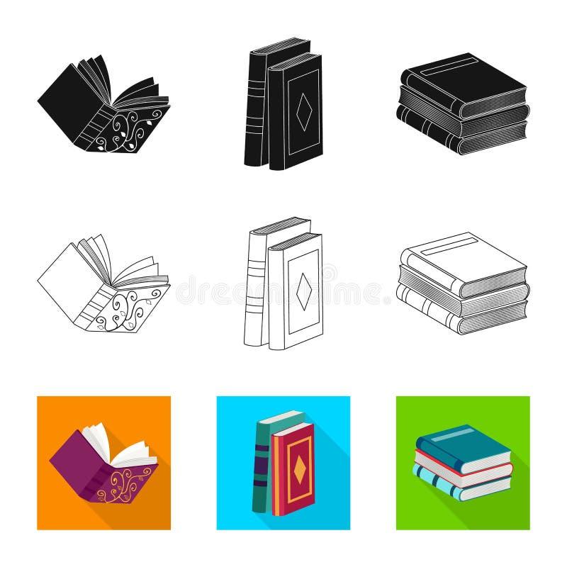 Odosobniony przedmiot szkolenia i pokrywy logo Kolekcja szkolenie i bookstore akcyjna wektorowa ilustracja royalty ilustracja