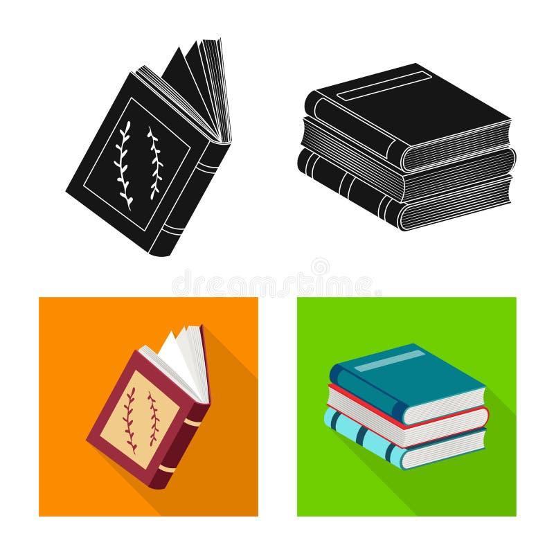 Odosobniony przedmiot szkolenia i pokrywy logo Kolekcja szkolenie i bookstore akcyjna wektorowa ilustracja ilustracja wektor