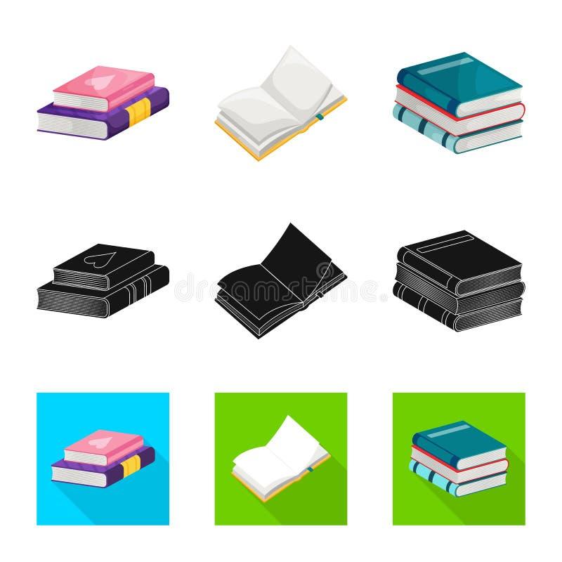 Odosobniony przedmiot szkolenia i pokrywy logo Kolekcja szkolenie i bookstore akcyjny symbol dla sieci ilustracja wektor