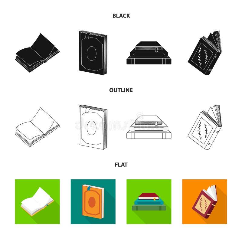 Odosobniony przedmiot szkolenia i pokrywy logo Kolekcja szkolenie i bookstore wektorowa ikona dla zapasu royalty ilustracja