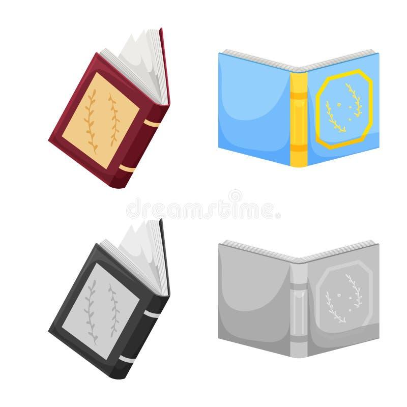 Odosobniony przedmiot szkolenia i pokrywy logo Set szkolenie i bookstore akcyjna wektorowa ilustracja ilustracji