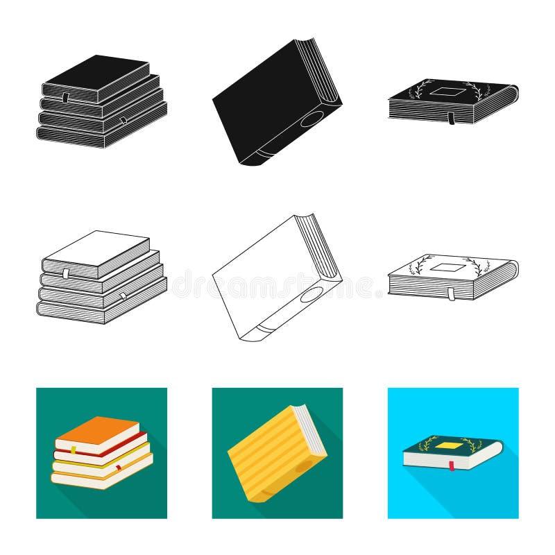 Odosobniony przedmiot szkolenia i pokrywy logo Set szkolenie i bookstore akcyjny symbol dla sieci ilustracji