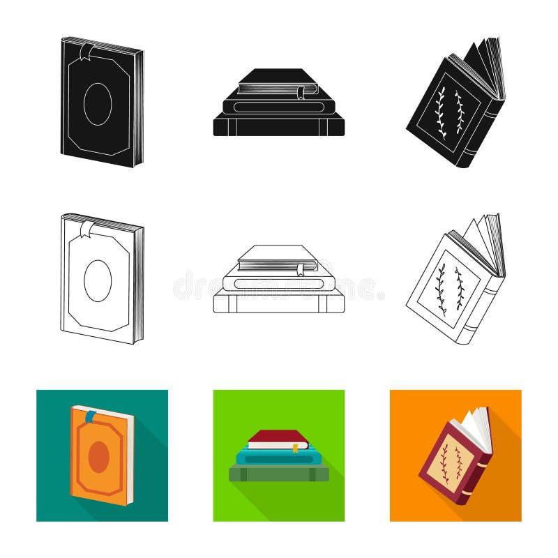 Odosobniony przedmiot szkolenia i pokrywy logo Set szkolenie i bookstore wektorowa ikona dla zapasu ilustracji