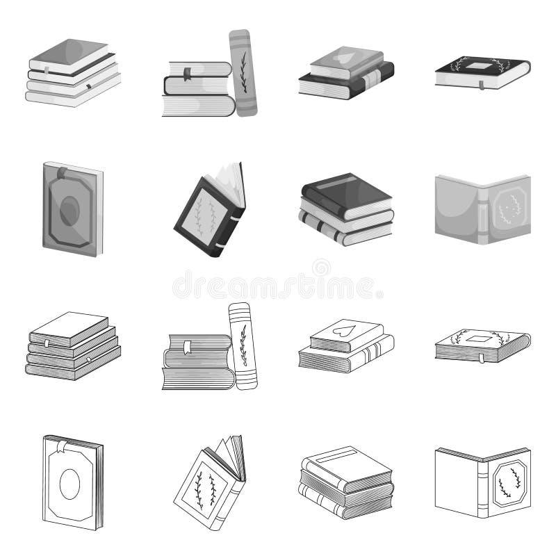 Odosobniony przedmiot szkolenia i pokrywy logo Set szkolenie i bookstore wektorowa ikona dla zapasu royalty ilustracja