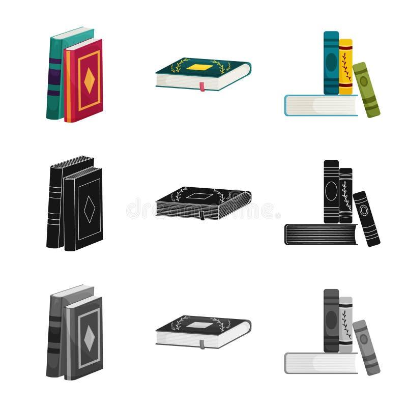 Odosobniony przedmiot szkolenia i pokrywy logo Set szkolenie i bookstore wektorowa ikona dla zapasu ilustracja wektor