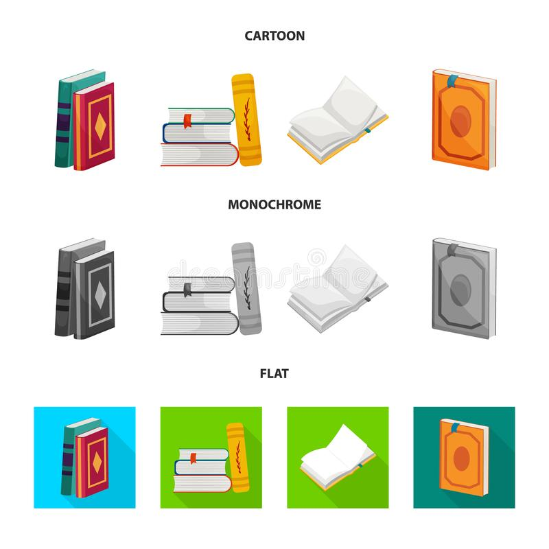 Odosobniony przedmiot szkolenia i pokrywy symbol Kolekcja szkolenie i bookstore akcyjna wektorowa ilustracja ilustracja wektor