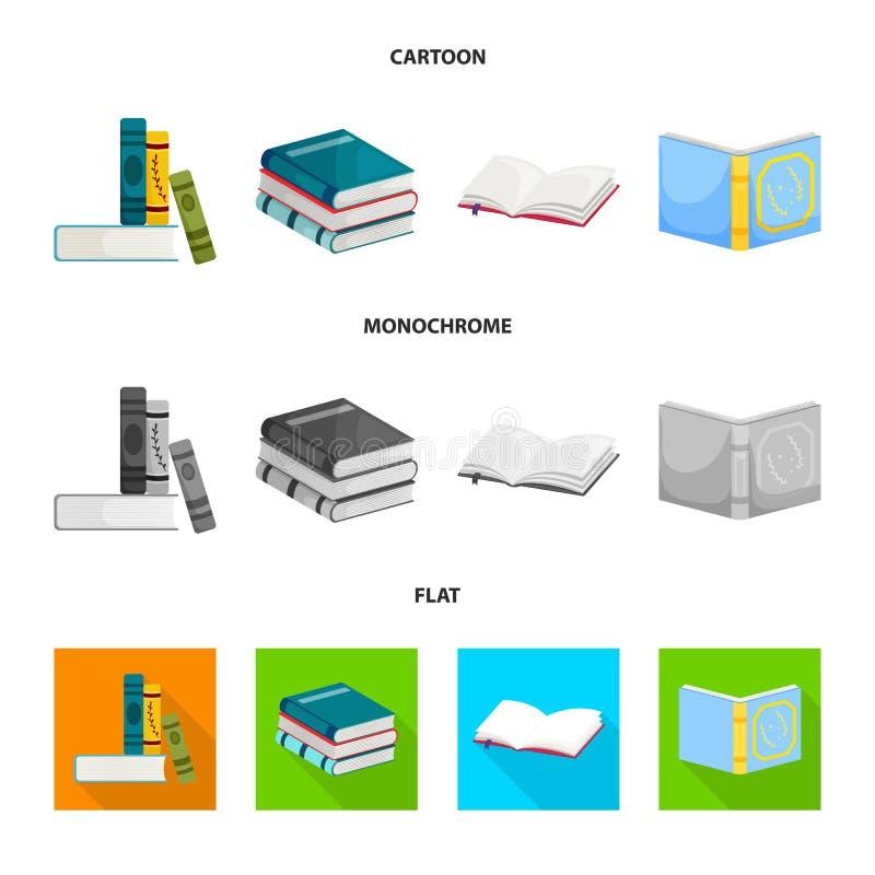 Odosobniony przedmiot szkolenia i pokrywy symbol Kolekcja szkolenie i bookstore akcyjna wektorowa ilustracja ilustracji