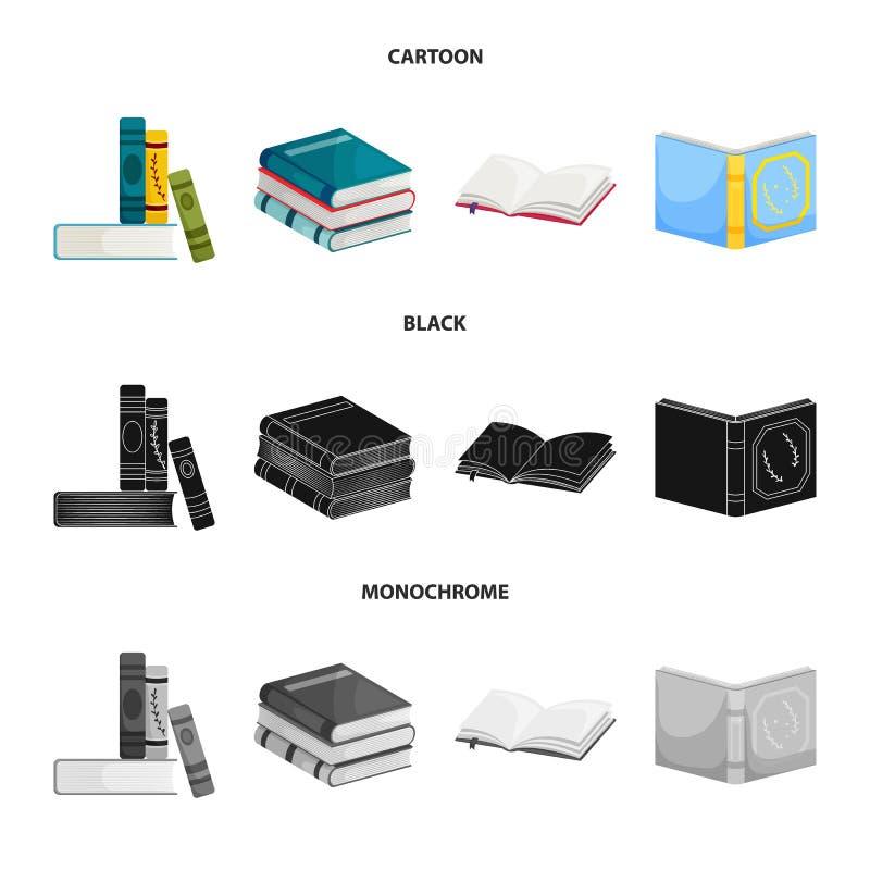 Odosobniony przedmiot szkolenia i pokrywy symbol Kolekcja szkolenie i bookstore akcyjny symbol dla sieci ilustracja wektor