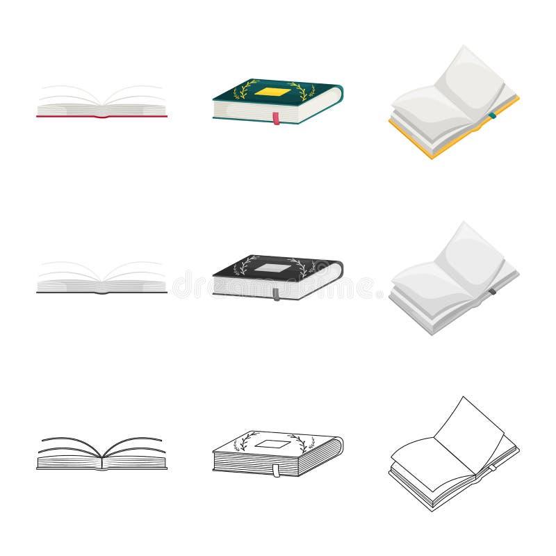 Odosobniony przedmiot szkolenia i pokrywy symbol Kolekcja szkolenie i bookstore wektorowa ikona dla zapasu royalty ilustracja
