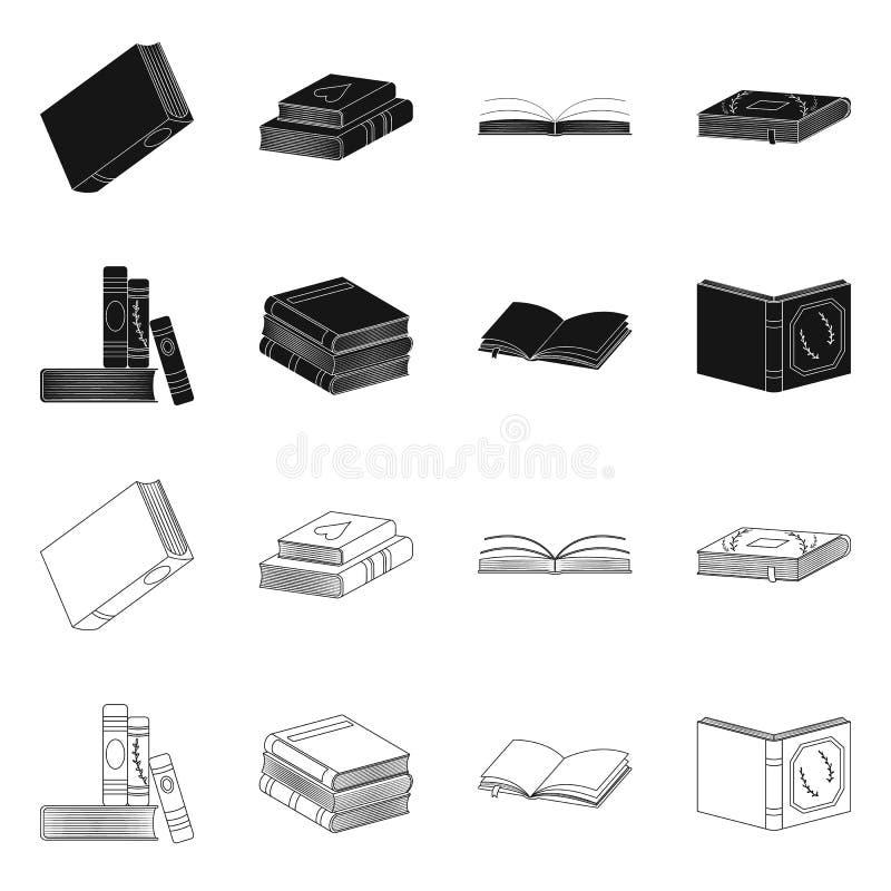 Odosobniony przedmiot szkolenia i pokrywy symbol Set szkolenie i bookstore akcyjna wektorowa ilustracja ilustracja wektor