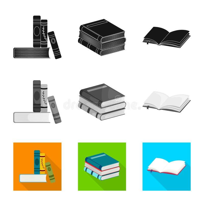 Odosobniony przedmiot szkolenia i pokrywy symbol Set szkolenie i bookstore wektorowa ikona dla zapasu ilustracji