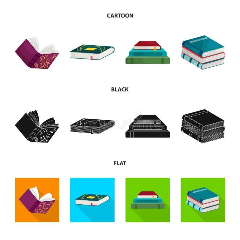 Odosobniony przedmiot szkolenia i pokrywy symbol Set szkolenie i bookstore wektorowa ikona dla zapasu royalty ilustracja