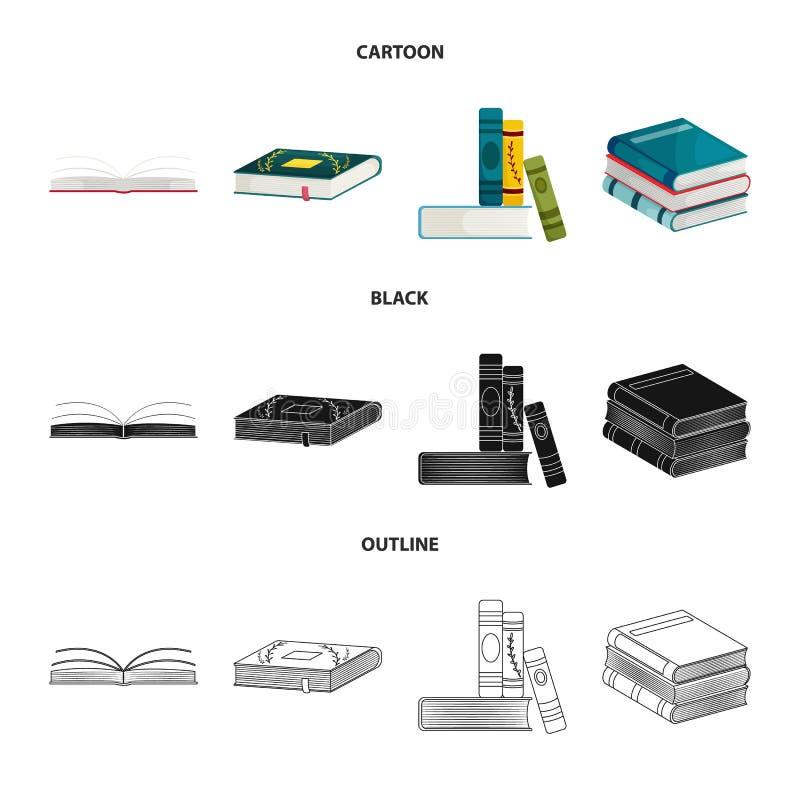 Odosobniony przedmiot szkolenia i pokrywy znak Kolekcja szkolenie i bookstore akcyjna wektorowa ilustracja ilustracja wektor