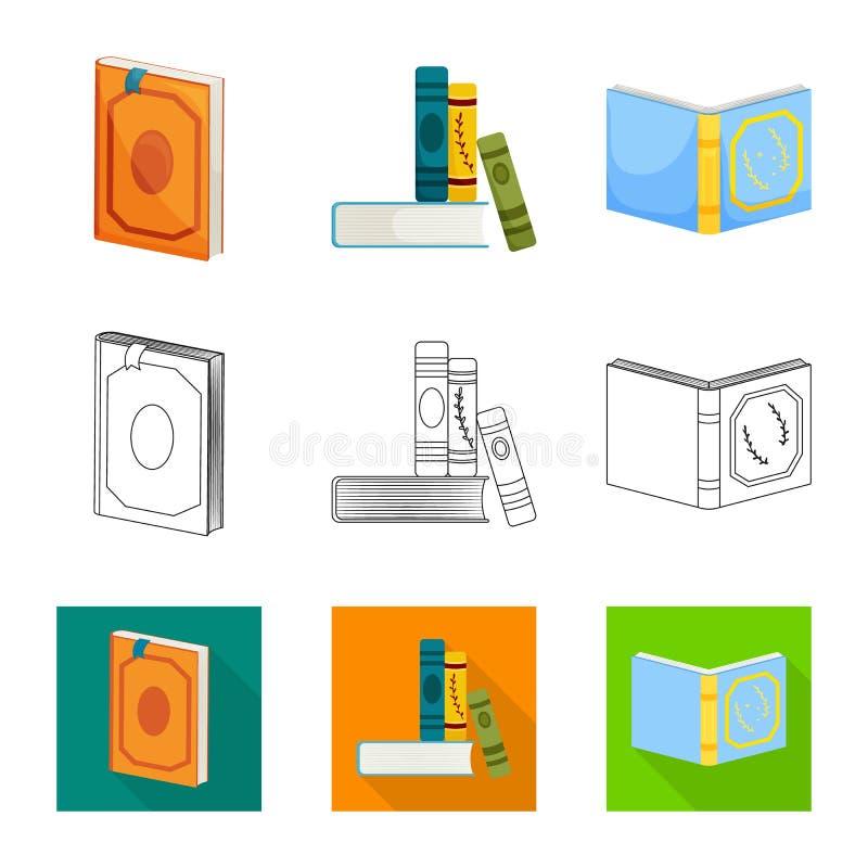 Odosobniony przedmiot szkolenia i pokrywy znak Kolekcja szkolenie i bookstore akcyjna wektorowa ilustracja royalty ilustracja