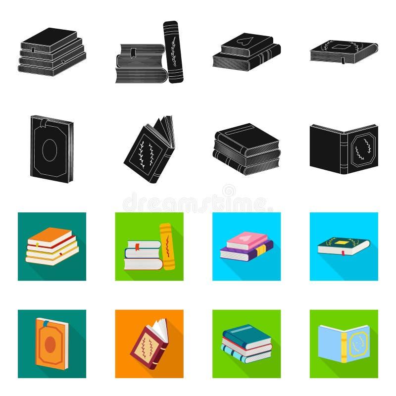 Odosobniony przedmiot szkolenia i pokrywy znak Kolekcja szkolenie i bookstore akcyjny symbol dla sieci royalty ilustracja