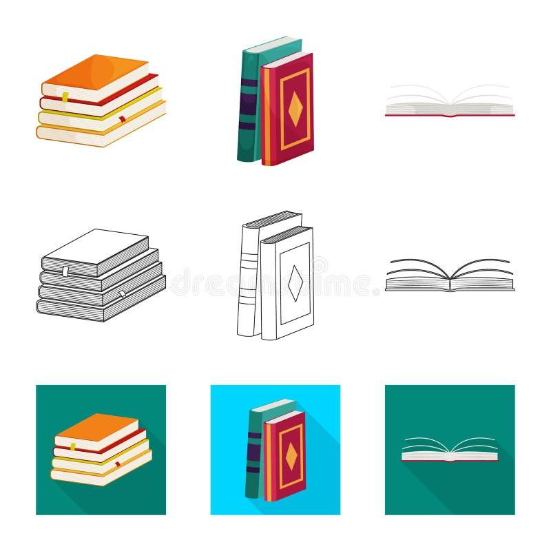 Odosobniony przedmiot szkolenia i pokrywy znak Kolekcja szkolenie i bookstore wektorowa ikona dla zapasu royalty ilustracja