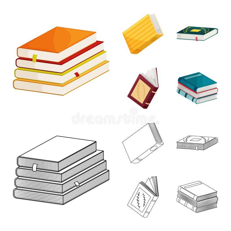 Odosobniony przedmiot szkolenia i pokrywy znak Kolekcja szkolenie i bookstore wektorowa ikona dla zapasu ilustracji