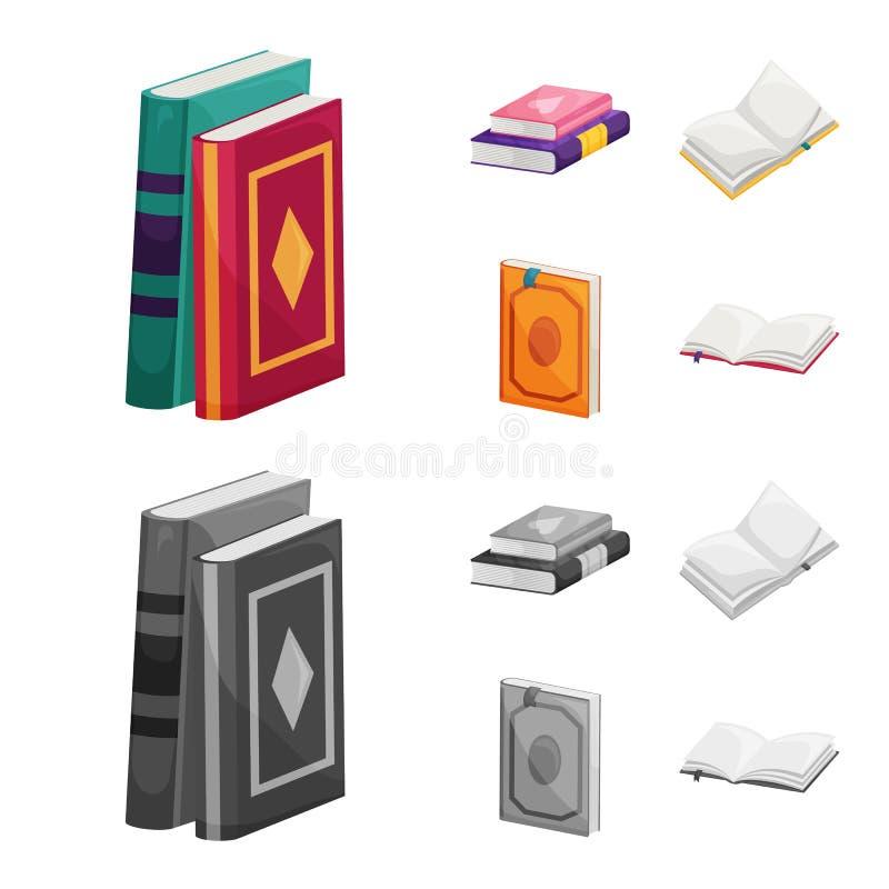 Odosobniony przedmiot szkolenia i pokrywy znak Kolekcja szkolenie i bookstore wektorowa ikona dla zapasu ilustracja wektor