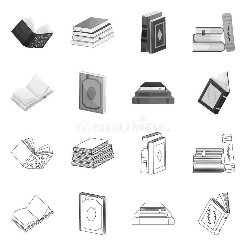 Odosobniony przedmiot szkolenia i pokrywy znak Set szkolenie i bookstore akcyjna wektorowa ilustracja royalty ilustracja