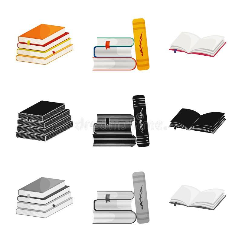 Odosobniony przedmiot szkolenia i pokrywy znak Set szkolenie i bookstore akcyjna wektorowa ilustracja ilustracja wektor