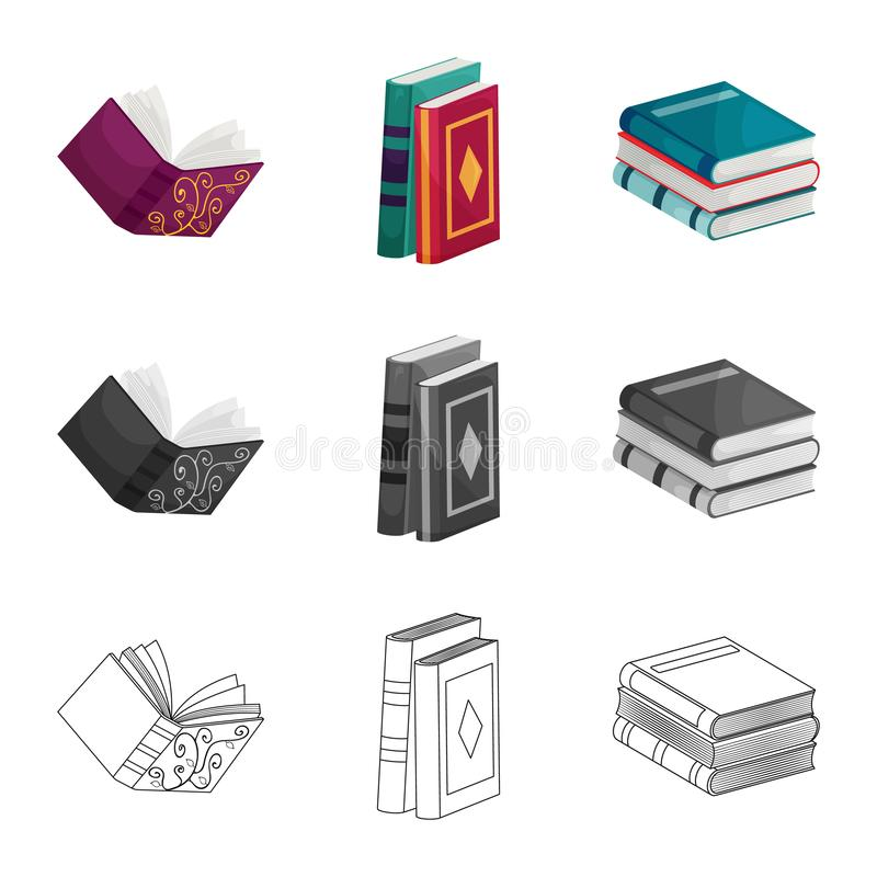 Odosobniony przedmiot szkolenia i pokrywy znak Set szkolenie i bookstore akcyjna wektorowa ilustracja ilustracji