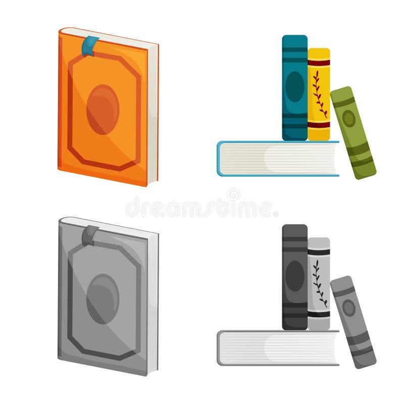 Odosobniony przedmiot szkolenia i pokrywy znak Set szkolenie i bookstore akcyjny symbol dla sieci royalty ilustracja