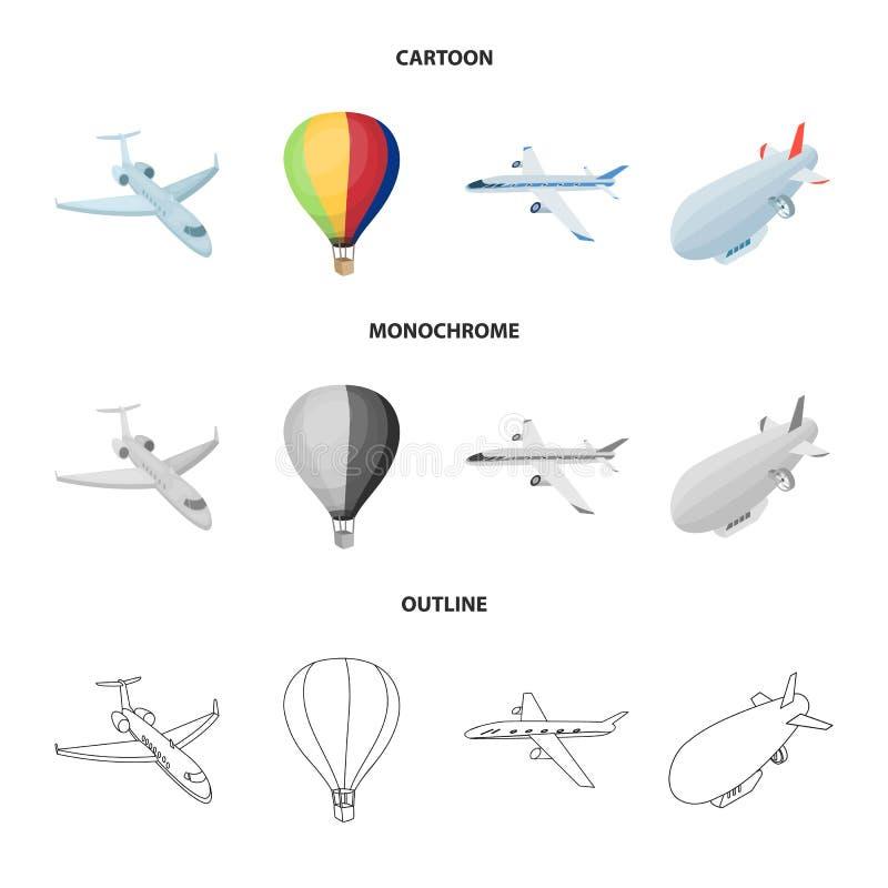 Odosobniony przedmiot transportu i przedmiota ikona Set transportu i szybownictwa akcyjny symbol dla sieci ilustracja wektor