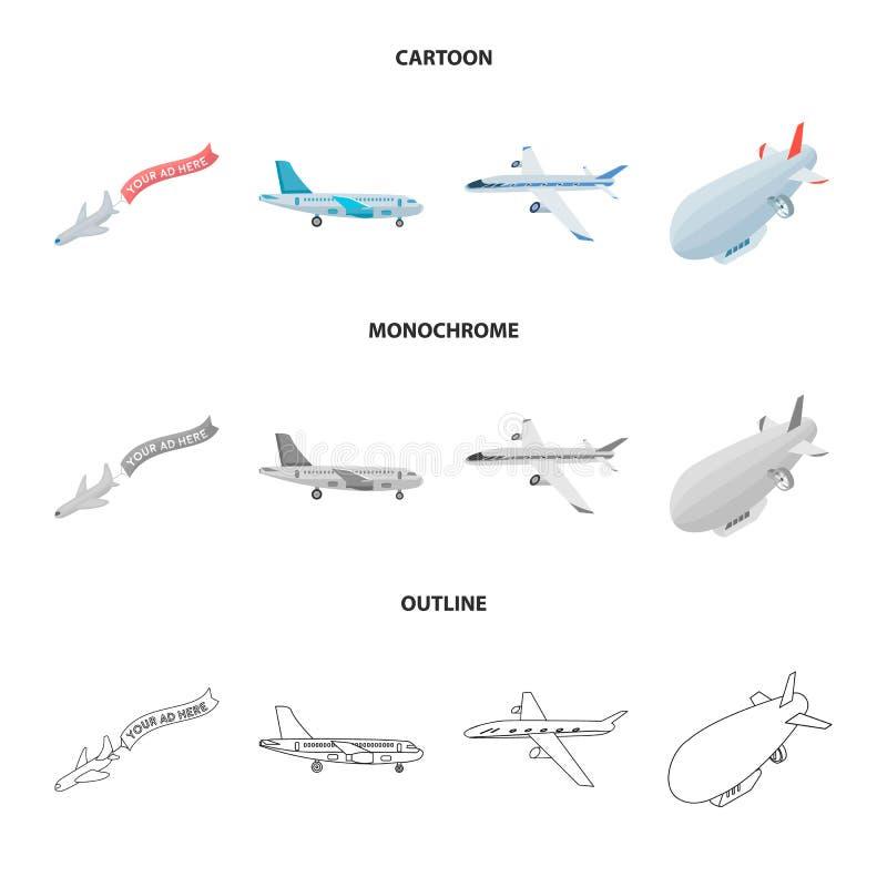 Odosobniony przedmiot transportu i przedmiota ikona Set transportu i szybownictwa akcyjny symbol dla sieci ilustracji