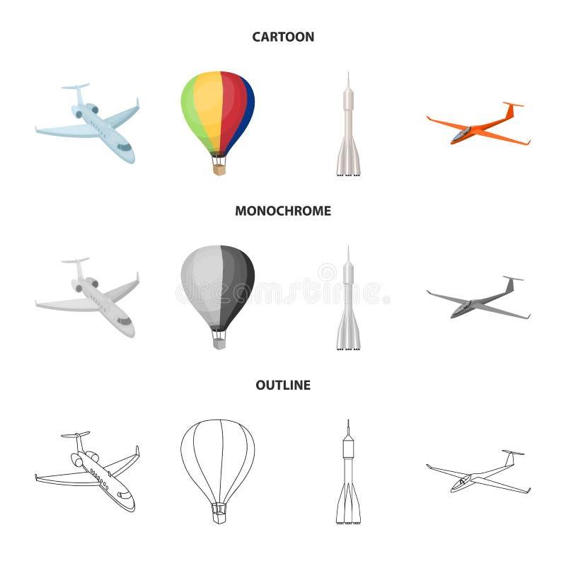 Odosobniony przedmiot transportu i przedmiota ikona Set transport i szybownictwo akcyjna wektorowa ilustracja ilustracji