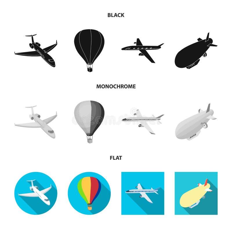 Odosobniony przedmiot transportu i przedmiota ikona Set transport i szybownictwo akcyjna wektorowa ilustracja royalty ilustracja