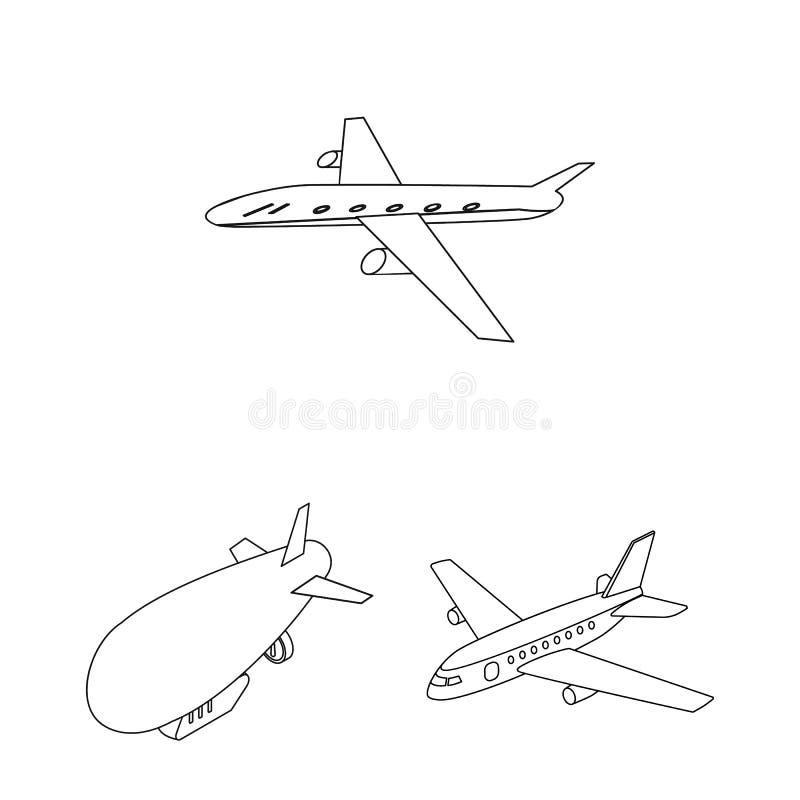 Odosobniony przedmiot transportu i przedmiota logo Kolekcja transportu i szybownictwa akcyjny symbol dla sieci royalty ilustracja